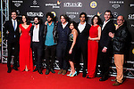 Miki Esparbe, Melina Matthews, Victor Dryere, Emiliano Rocha, Raul Cerezo, Olivia Delcan, Alex Maruny, Miranda Gas and Jorge Suquet during the Blood Red Carpet at Festival de Cine Fantastico de Sitges in Barcelona. October 12, Spain. 2016. (ALTERPHOTOS/BorjaB.Hojas)