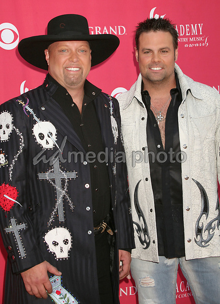 15 May 2007 - Las Vegas, Nevada - Eddie Montgomery and Troy Gentry of 'Montgomery Gentry'. 42nd Annual Academy Of Country Music Awards held at the MGM Grand Garden Arena. Photo Credit: Byron Purvis/AdMedia