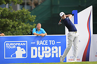 Gary Hurley (IRL) on the 1st tee during Round 1 of the D+D Real Czech Masters at the Albatross Golf Resort, Prague, Czech Rep. 31/08/2017<br /> Picture: Golffile | Thos Caffrey<br /> <br /> <br /> All photo usage must carry mandatory copyright credit     (&copy; Golffile | Thos Caffrey)
