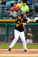 Ji-Man Choi (25) of the Salt Lake Bees at bat against the Tacoma Rainiers in Pacific Coast League action at Smith's Ballpark on June 13, 2016 in Salt Lake City, Utah. The Rainiers defeated the Bees 3-1. (Stephen Smith/Four Seam Images)