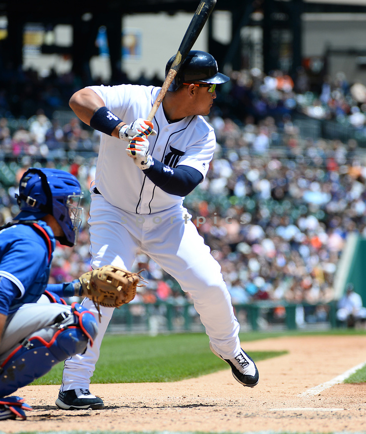 Detroit Tigers Miguel Cabrera (24) during a game against the Toronto Blue Jays on June 8, 2016 at Comerica Park in Detroit MI. The Blue Jays beat the Tigers 7-2.