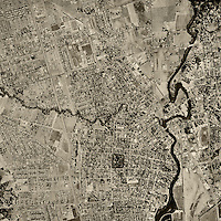 historical aerial photograph Napa California 1958