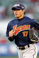 Kosuke Fukudome of Japan during World Baseball Championship at Angel Stadium in Anaheim,California on March 14, 2006. Photo by Larry Goren/Four Seam Images