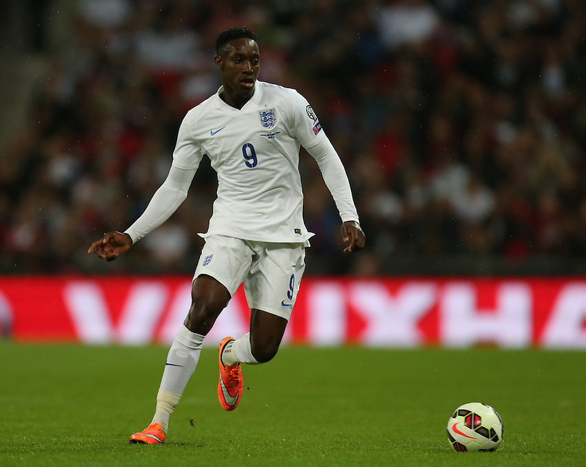 England's Daniel Welbeck  in action during todays match  <br /> Photographer Kieran Galvin/CameraSport<br /> <br /> International Football - UEFA EURO 2016 - European Qualifiers Group E - England v San Marino - Thursday 9th October 2014 - Wembley Stadium - London <br /> <br /> &copy; CameraSport - 43 Linden Ave. Countesthorpe. Leicester. England. LE8 5PG - Tel: +44 (0) 116 277 4147 - admin@camerasport.com - www.camerasport.com