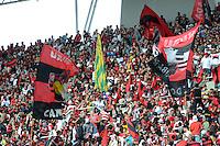 RIO DE JANEIRIO, TJ, 08 JULHO 2012 - CAMPEONATO BRASILEIRO - FLU X FLA - jogador do Flamengo durante partida contra Fluninense válida pelo Campeonato Brasileiro 2012, no estdio do Engenhao no Rio de Janeiro - FOTO: MARCELO FONSECA - BRAZIL PHOTO PRESS.