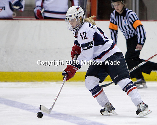 Jenny Potter (US - 12) - Team USA defeated Team Canada 4-3 (so) to win the 2008 Four Nations Cup on Sunday, November 9, 2008, in the 1980 Rink in Lake Placid, New York.