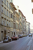 Florence: Via Dei Servi--urban form and building heights essentially set by 16th century.