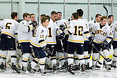 - The visiting American International College Yellow Jackets defeated the Bentley University Falcons 5-1 on Saturday, February 12, 2011, at John A. Ryan Skating Arena in Watertown, Massachusetts.