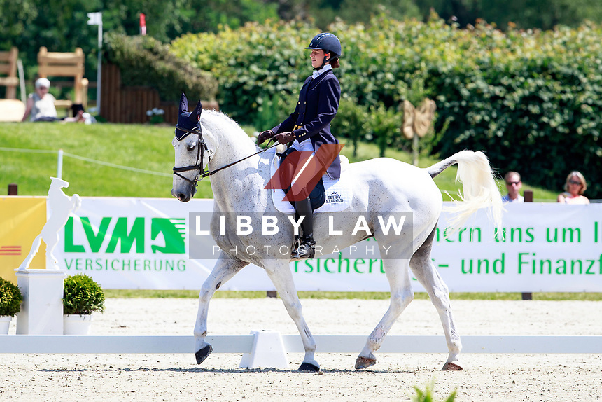 GBR-Kirsty Short rides Cossan Lad during the 1st day of Dressage, CCI4* Presented by DHL, at the 2017 Luhmühlen International Horse Trial. Thursday 15 June. Copyright Photo: Libby Law Photography