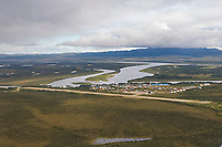 The village of Kiana located on the Kobuk River in Alaska's Arctic