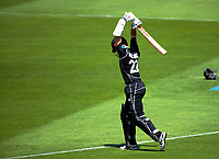 Kane Williamson walks out to bat during the One Day International cricket match between the NZ Black Caps and Pakistan at the Basin Reserve in Wellington, New Zealand on Saturday, 6 January 2018. Photo: Dave Lintott / lintottphoto.co.nz