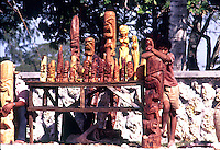 "Boy selling wooden Statues in Nuku""alofa Tonga, Tongan Islands, South Pacific,1980"