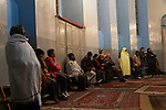 Israel, West Jerusalem, a common prayer at the Ethiopian Orthodox Church (Debra Gannet) in the Week of prayer for Christian Unity in the Holy Land