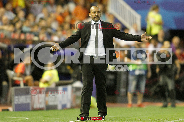 Valencia's coach Nuno Espirito Santo during Champions League 2015/2016 Play-Offs 1st leg match. August  19,2015. (ALTERPHOTOS/Acero)