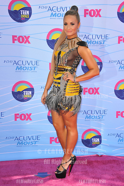 Demi Lovato at the 2012 Teen Choice Awards at the Gibson Amphitheatre, Universal City..July 23, 2012  Los Angeles, CA.Picture: Paul Smith / Featureflash