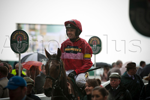 13.04.2012 Aintree, England. The Grand National Festival Ladies Day. Jockey Ruby Walsh pictured after the winning the second race of the day, the John Smith's Mildmay Novices' Steeple Chase on his mount Silviniaco Conti.