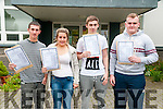 North Kerry College students who received their leaving cert results on Wednesday last. L-R: Damian Murphy, Zoe O'Gorman, Tiarnan Ball & Kilian Downey