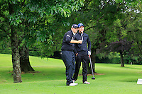 J.R. Galbraith (Whitehead), Alan lowry (Esker Hills) on the 3rd tee during round 1 of The Mullingar Scratch Cup in Mullingar Golf Club on Sunday 3rd August 2014.<br /> Picture:  Thos Caffrey / www.golffile.ie