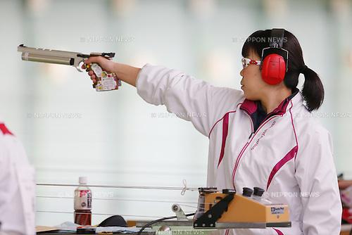 Akiko Sato, MARCH 12, 2016 - Shooting - Rifle : All Japan Shooting Championship Women's 10m Pistol at Miyagi Shooting Range in Miyagi, Japan. (Photo by Yusuke Nakanishi/AFLO SPORT)