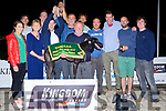 "Members of The ""Bark Wahlberg"" Syndicate celebrating a Race 10 win at The Crotta O'Neill's fundraiser night at The Kingdom Greyhound Stadium on Saturday evening."