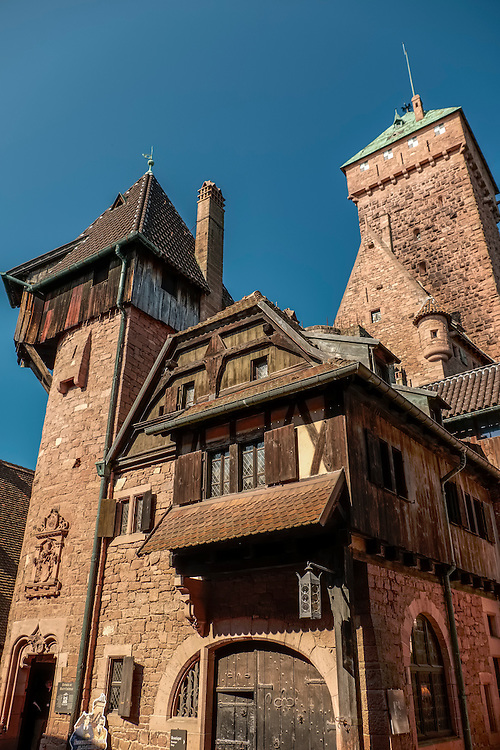 Located in the Vosges Mountains of Alsace, this castle provides a panoramic view of the flat Rhine plain from an elevation of 2500 feet.