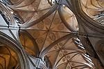 Ceiling of Salisbury Cathedral Church in Salisbury; England; UK