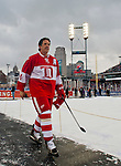 31 December 2013: Former Detroit Red Wings forward Brendan Shanahan (14) walks toward the dressing rooms after warmups before the Toronto Maple Leafs v Detroit Red Wings Alumni Showdown hockey game, at Comerica Park, in Detroit, MI.