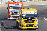 German driver Sascha Lenz belonging German team Sascha Lenz French driver Anthony Janiec belonging Portugese team Lion Truck Racing during the third race R3 of the XXX Spain GP Camion of the FIA European Truck Racing Championship 2016 in Madrid. October 02, 2016. (ALTERPHOTOS/Rodrigo Jimenez)