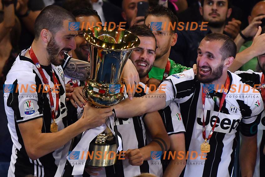 Leonardo Bonucci, Giorgio Chiellini Juventus <br /> Roma 17-05-2017 Stadio Olimpico Finale Coppa Italia 2016/2017 Juventus - Lazio Foto Andrea Staccioli / Insidefoto