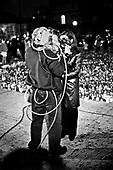 Warsaw 04/2010 Poland<br /> People mourning the tragic death of President Lech Kaczynski and his wife in front of the presidential residence.<br /> on picture: TV cameraman<br /> Photo: Adam Lach / Napo Images for The New York Times<br /> <br /> Zaloba po tragicznej smierci Prezydenta Lecha Kaczynskiego i jego malzonki,ul. Krakowskie Przedmiescie przed Palacem Prezydenckim.<br /> na zdjeciu: operator telewizyjny<br /> Fot: Adam Lach / Napo Images dla The New York Times