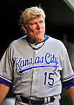 21 June 2010: Kansas City Royals first base coach Rusty Kuntz walks the dugout prior to a game against the Washington Nationals at Nationals Park in Washington, DC. The Nationals edged out the Royals 2-1 in the first game of their 3-game interleague series, snapping a 6-game losing streak. Mandatory Credit: Ed Wolfstein Photo