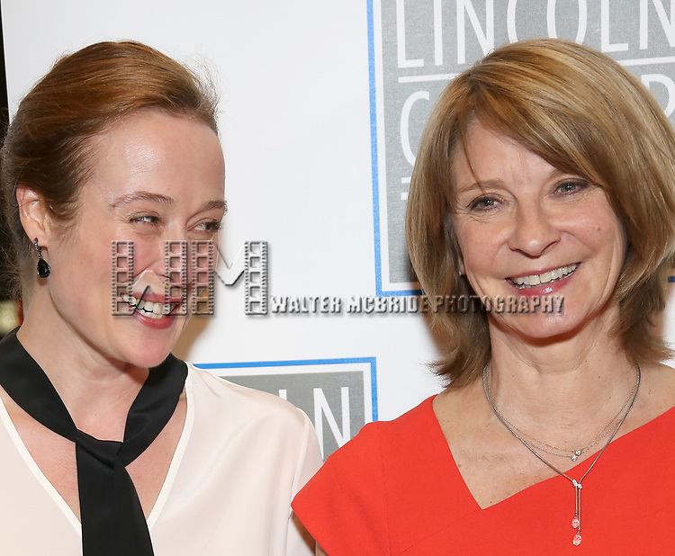 Jennifer Ehle and Mona Juu attend the Opening Night Performance press reception for the Lincoln Center Theater production of 'Oslo' at the Vivian Beaumont Theater on April 13, 2017 in New York City.
