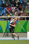 RIO DE JANEIRO - 9/9/2016:  Alister McQueen competes in the Men's Javelin Throw - F44 Final in the Olympic Stadium during the Rio 2016 Paralympic Games. (Photo by Matthew Murnaghan/Canadian Paralympic Committee