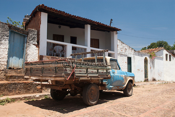 Brazil, Bahia, Lencois (Parque Nacional de Chapada Diamantina): Battered old, but still working, truck in Lencois. --- No releases available. Automotive trademarks are the property of the trademark holder, authorization may be needed for some uses.