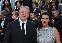 Former US Vice-President Al Gore &amp; Elizabeth Keadle at the 70th Anniversary Gala for the Festival de Cannes, Cannes, France. 23 May 2017<br /> Picture: Paul Smith/Featureflash/SilverHub 0208 004 5359 sales@silverhubmedia.com