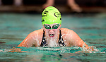 Cottonwood's Erin Morgan competes in the 50 yard breast race during the 53rd annual Country Club Swimming Championships on Monday, Aug. 6, 2012, in Kearns, Utah. (© 2012 Douglas C. Pizac)