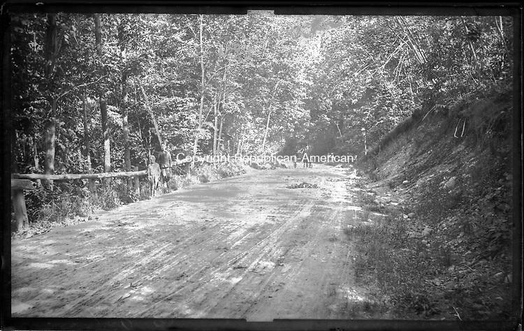 Frederick Stone negative.  Cemetery Road 1887, Bucks Hill Neighborhood off N. Main Street.