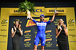 Fernando Gaviria (COL) Quick-Step Floors wins Stage 4 of the 2018 Tour de France running 195km from La Baule to Sarzeau, France. 10th July 2018. <br /> Picture: ASO/Alex Broadway | Cyclefile<br /> All photos usage must carry mandatory copyright credit (&copy; Cyclefile | ASO/Alex Broadway)