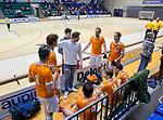 ROTTERDAM  - NK Reserve Hoofdklasse  Zaalhockey . Bloemendaal H2 - HDM H3 (4-3) . teambespreking  Bloemendaal kampioen COPYRIGHT KOEN SUYK
