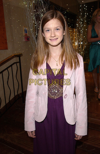 BONNIE WRIGHT.British Academy Children's Film & Television Awards in Association With The Lego Company, Hilton Hotel, London..November 28th, 2004.Baftas, half length, pink jacket, purple dress, diamante, jewelled belt detail.www.capitalpictures.com.sales@capitalpictures.com.© Capital Pictures.