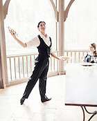 Marcelo Martinez, of Carolina Ballet, with a favorite shrimp entree, Jan. 13, 2013.