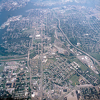 1998 September 05..Aerial..High altitude of census tracts around Elizabeth River in Portsmouth & Norfolk..Gene Woolridge.NEG# 11678 - 34.NRHA#..