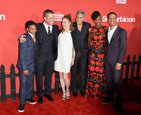 Tony Espinosa, Matt Damon, Julianne Moore, George Clooney, Karimah Westbrook, Leith Burke at the premiere for &quot;Suburbicon&quot; at the Regency Village Theatre, Westwood. Los Angeles, USA 22 October  2017<br /> Picture: Paul Smith/Featureflash/SilverHub 0208 004 5359 sales@silverhubmedia.com