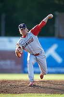 Williamsport Crosscutters pitcher Denton Keys (34) delivers a pitch during a game against the Batavia Muckdogs on July 15, 2015 at Dwyer Stadium in Batavia, New York.  Williamsport defeated Batavia 6-5.  (Mike Janes/Four Seam Images)