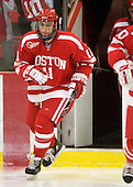 Zach Cohen (BU - 11) - The Boston University Terriers defeated the Harvard University Crimson 6-5 in overtime on Tuesday, November 24, 2009, at Bright Hockey Center in Cambridge, Massachusetts.