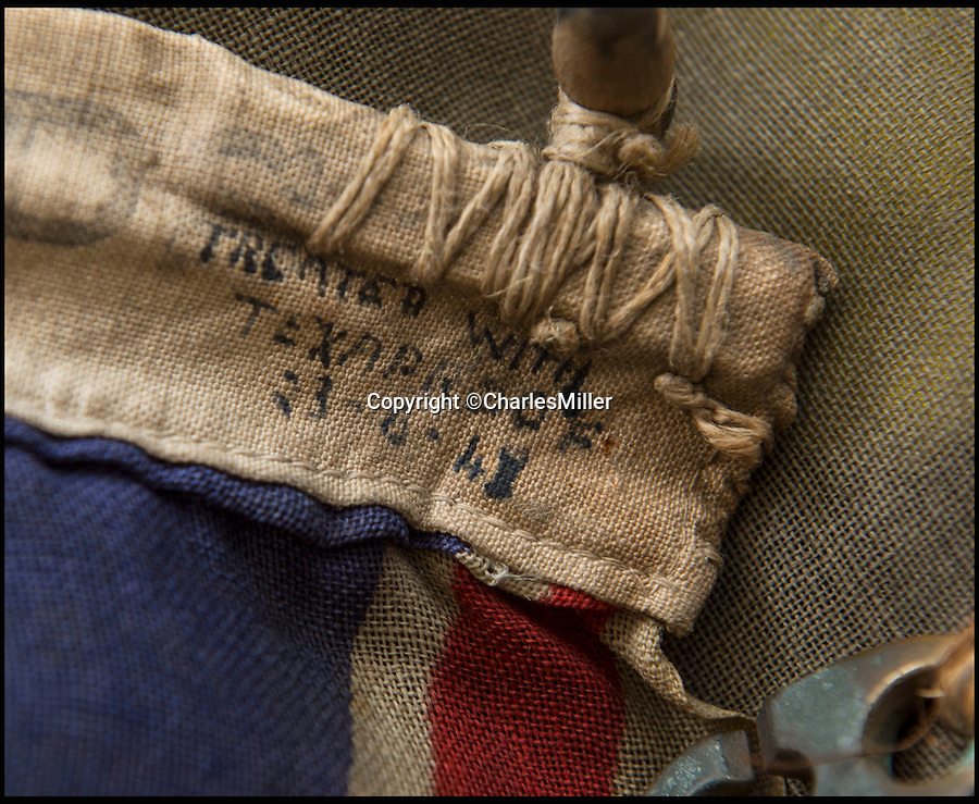 BNPS.co.uk (01202 558833)<br /> Pic: CharlesMiller/BNPS<br /> <br /> Its amazing survival may be down to the WW2 vintage 'Texaproof' coating.<br /> <br /> Remarkable survivor from the 'Longest Day'<br /> <br /> A smoke-stained and bullet-holed British flag that was the first raised on Sword Beach on D-Day has emerged for sale.<br /> <br /> Soldiers used the White Ensign to stake their claim on the Normandy beach during the historic invasion that changed the course of the Second World War.<br /> <br /> After it was hoisted, the 2.2ft by 4.4ft flag was clearly caught in the midst of battle as there are several bullet holes in it from where it had been shot by German fire.<br /> <br /> It is being sold for an estimated £3,000 at Charles Miller auctions of London.