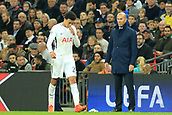 1st November 2017, Wembley Stadium, London, England; UEFA Champions League, Tottenham Hotspur versus Real Madrid; Real Madrid Manager Zinedine Zidane stares at Dele Alli of Tottenham Hotspur