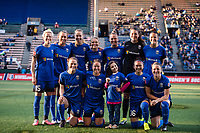 Seattle, WA - April 15th, 2017: Seattle Reign FC Starting Eleven during a regular season National Women's Soccer League (NWSL) match between the Seattle Reign FC and Sky Blue FC at Memorial Stadium.