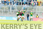 Daniel O'Brien Kerry in action against Desmond Conneely Galway in the All Ireland Minor Football Final in Croke Park on Sunday.
