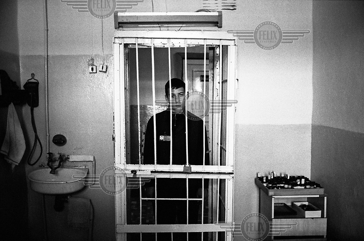 A prisoner, who has been diagnosed with tuberculosis (TB), waits to receive his medication during DOT (Directly Observed Treatment) therapy at a local prison hospital. There are thousands of active TB cases in Russia's poorly resourced and overcrowded penal institutions, which have been labelled as breeding grounds for the disease.